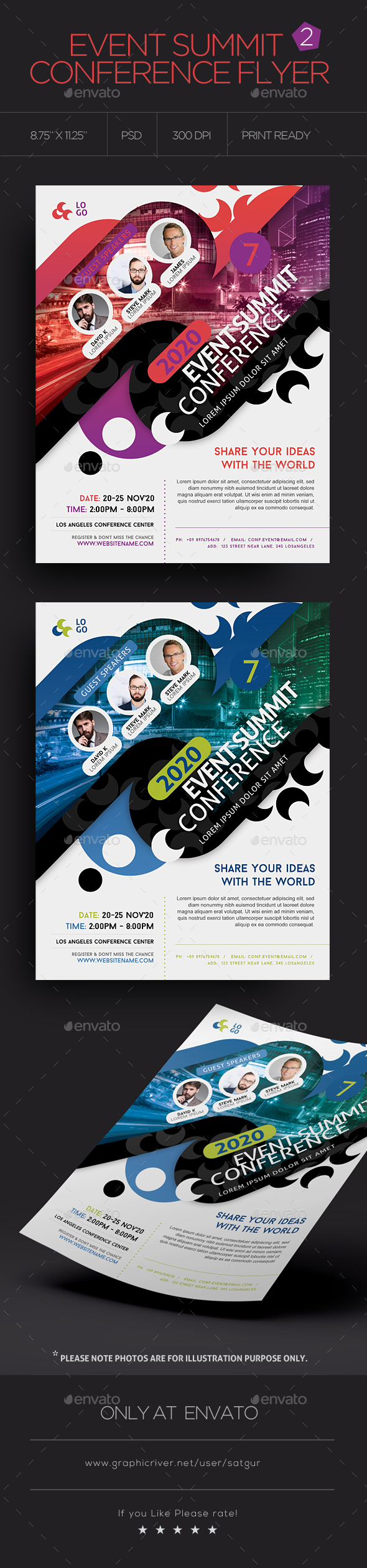 Event Summit Conference Flyer V2 - Corporate Flyers