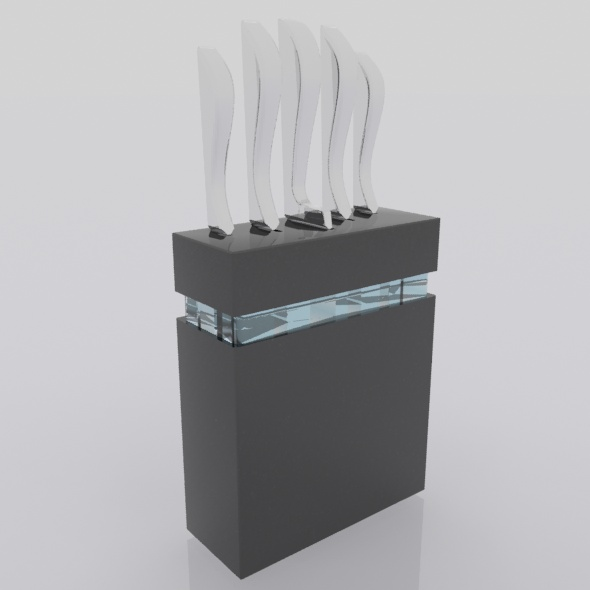 Knives stand - 3DOcean Item for Sale