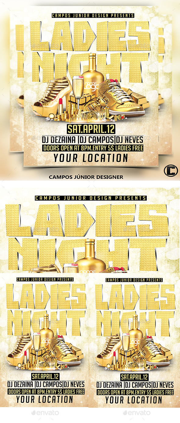 Ladies Night - Flyer Template - Clubs & Parties Events