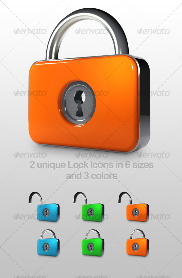 Slick lock icon - Man-made objects Objects