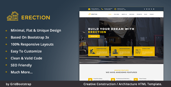 Erection – Architecture Building Template
