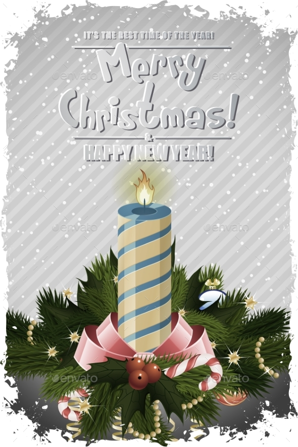 Christmas Greeting Card. - Backgrounds Decorative