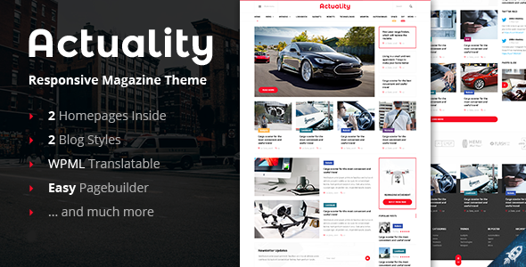 Actuality – Blog & Magazine WordPress Theme