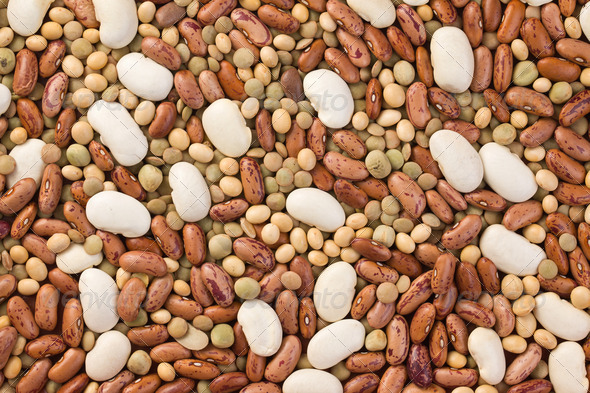 mixed legumes - Stock Photo - Images