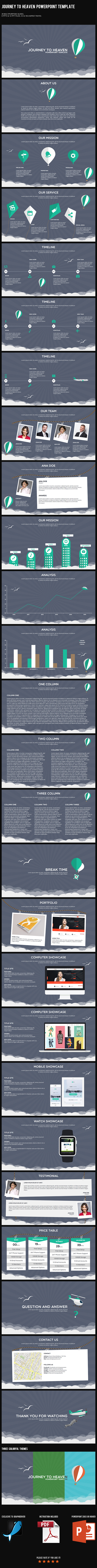 Journey to Heaven PowerPoint Template - PowerPoint Templates Presentation Templates