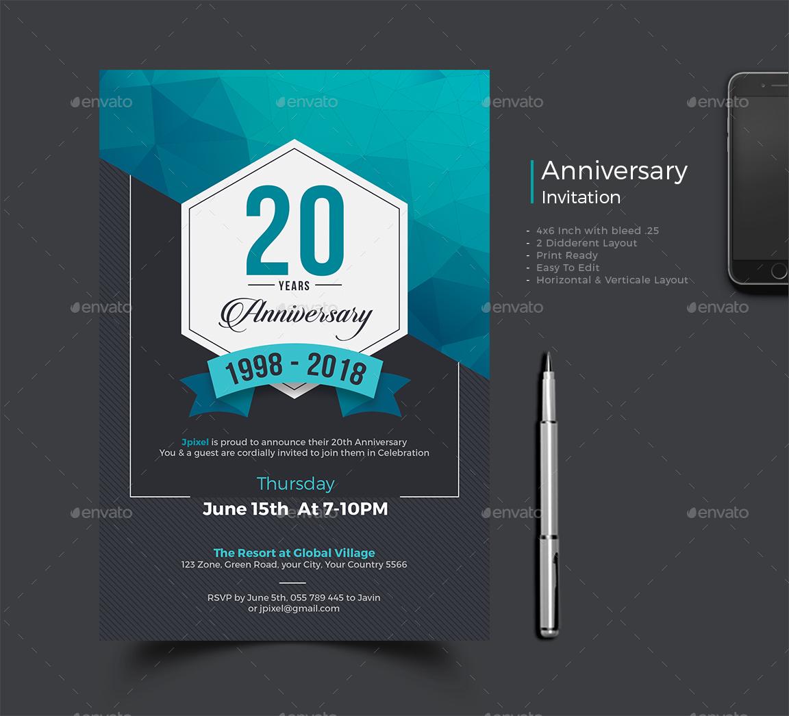 Anniversary invitation by jpixel55 graphicriver anniversary invitation anniversary greeting cards screenshotscreenshot 1g stopboris Gallery