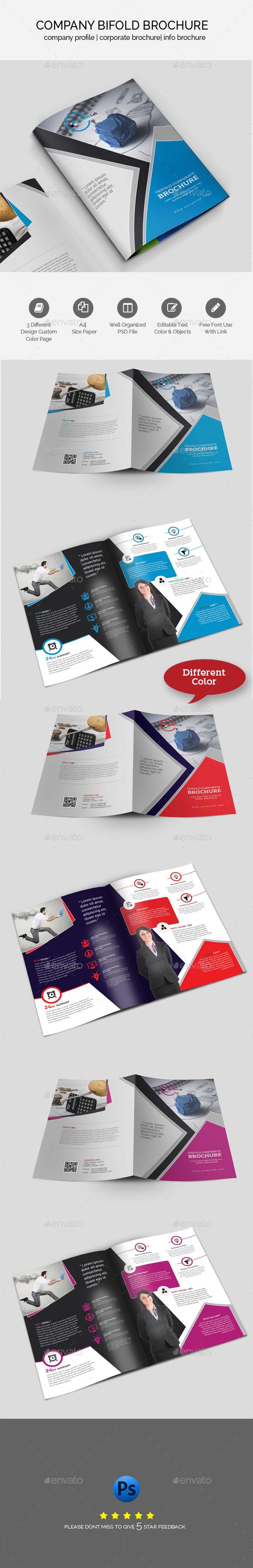 Bifold Brochure Template - Brochures Print Templates