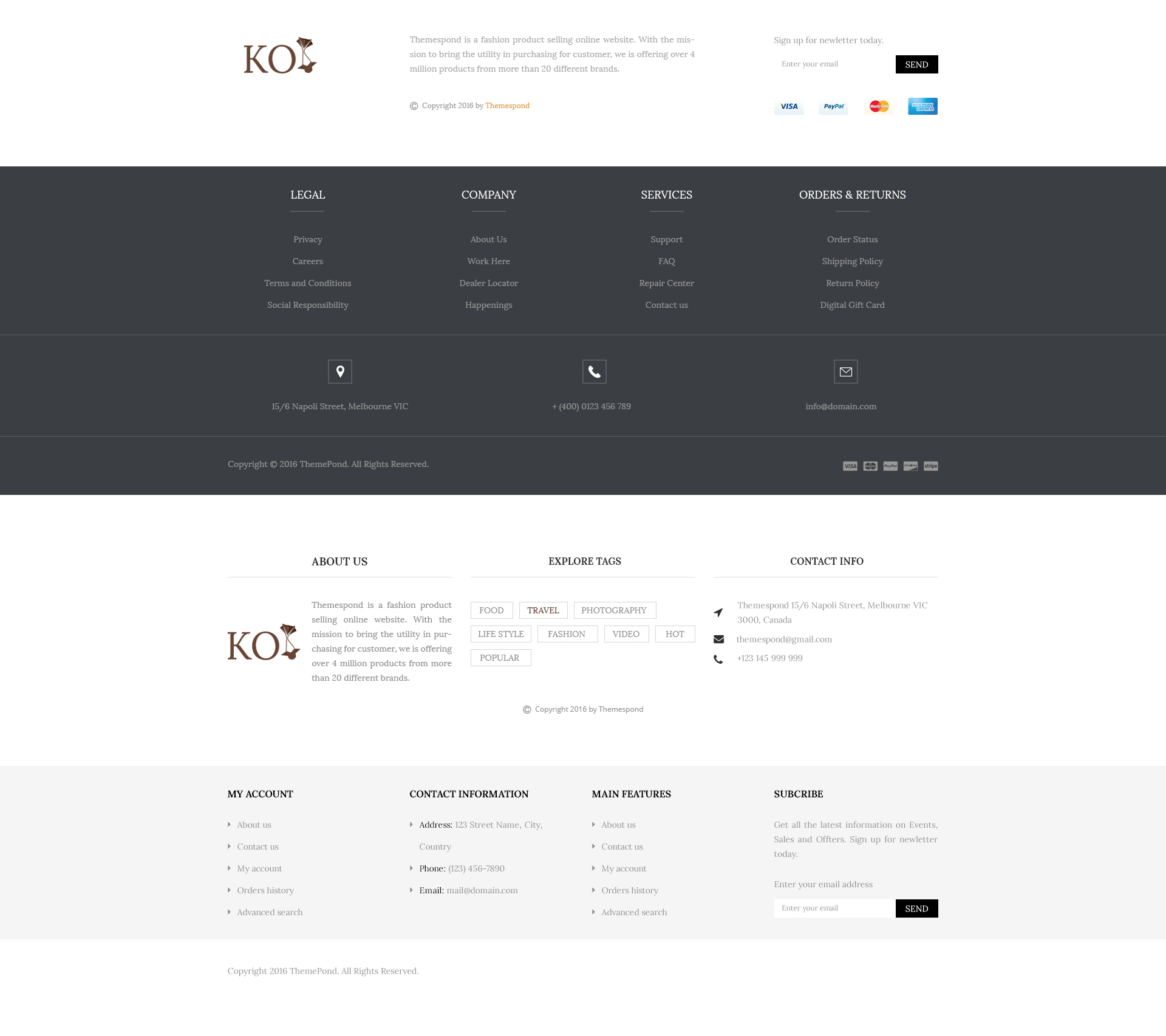 KOI Fashion Store and eCommerce Multi-Purpose HTML Template by ...