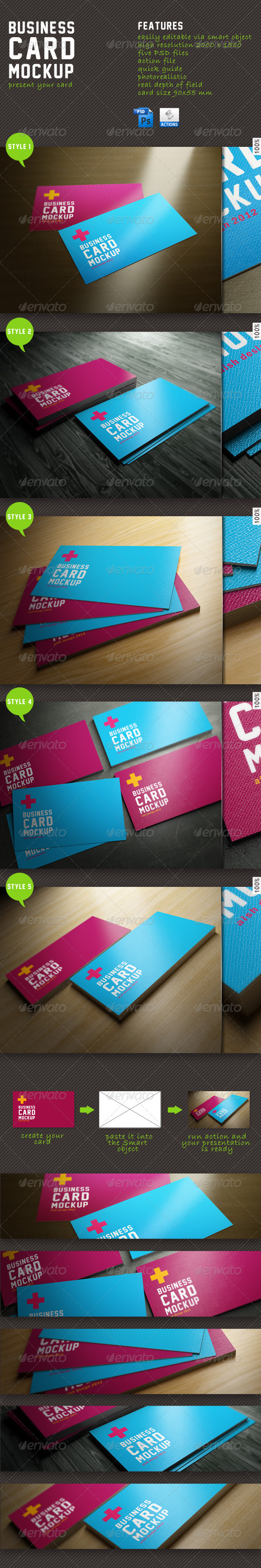 Business Card Mockup by aish
