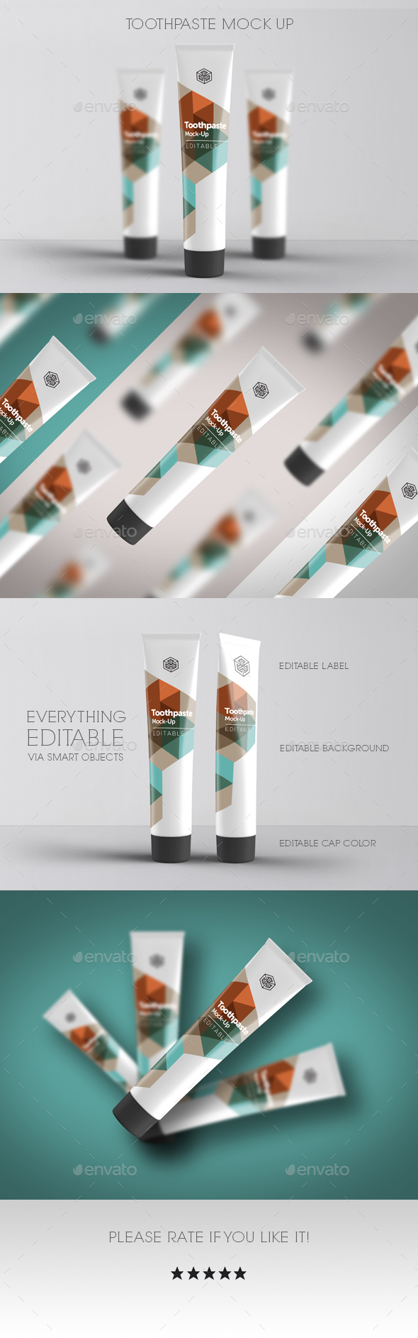 Cream Tube Mock Up - Beauty Packaging