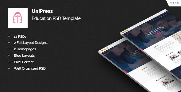 Unipress Education PSD Template - Business Corporate
