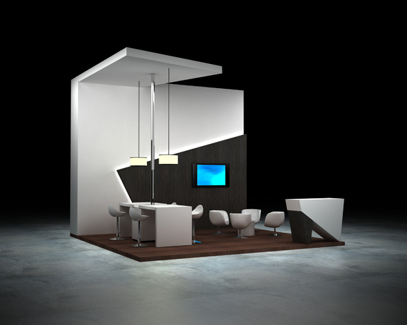 Exhibition Booth Peninsula 6x6 By Brakster 3docean