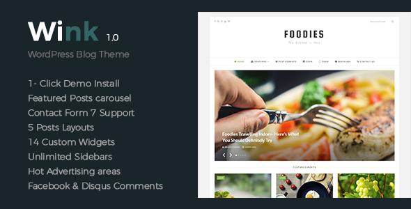 Wink – Modern & Elegant & Clean WordPress Theme