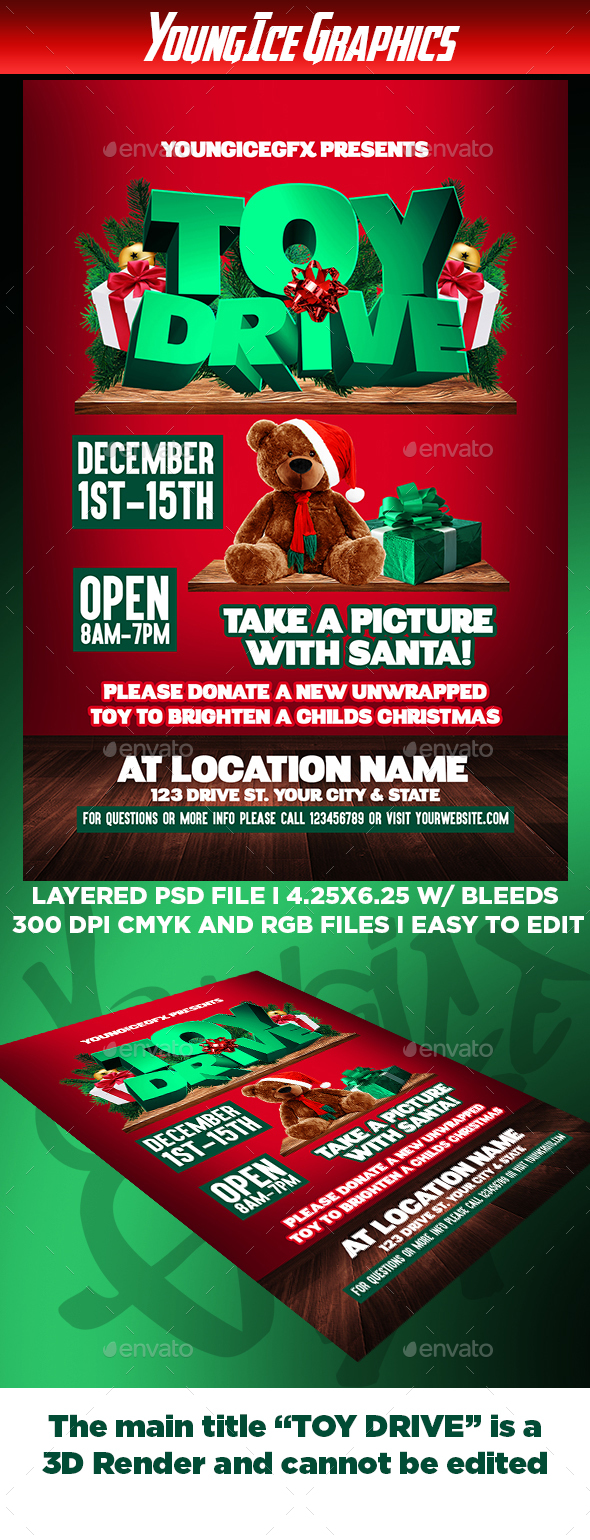 Toy Drive Flyer : Toy drive flyer template by youngicegfx graphicriver