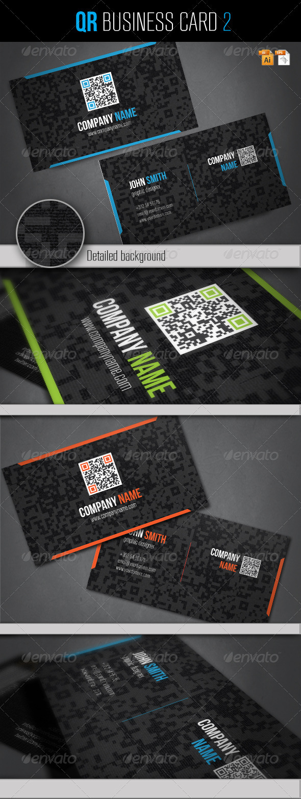 QR Business Card 2 - Corporate Business Cards