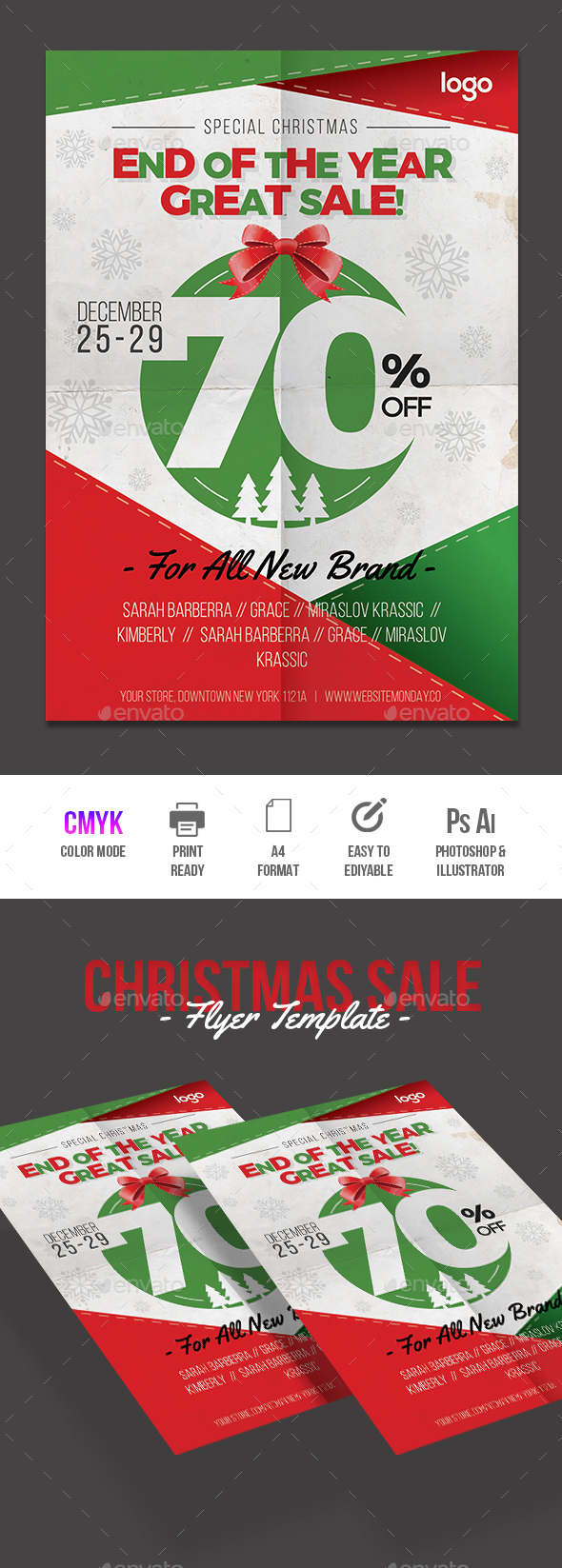 Christmas Sale Flyer - Commerce Flyers