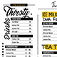 Cafe Food Menu - GraphicRiver Item for Sale