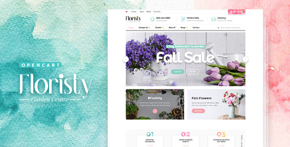Pav Floristy - Best Flower Shop Opencart Theme - OpenCart eCommerce