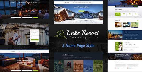 Lake Resort : Resort and Hotel HTML Template - Travel Retail