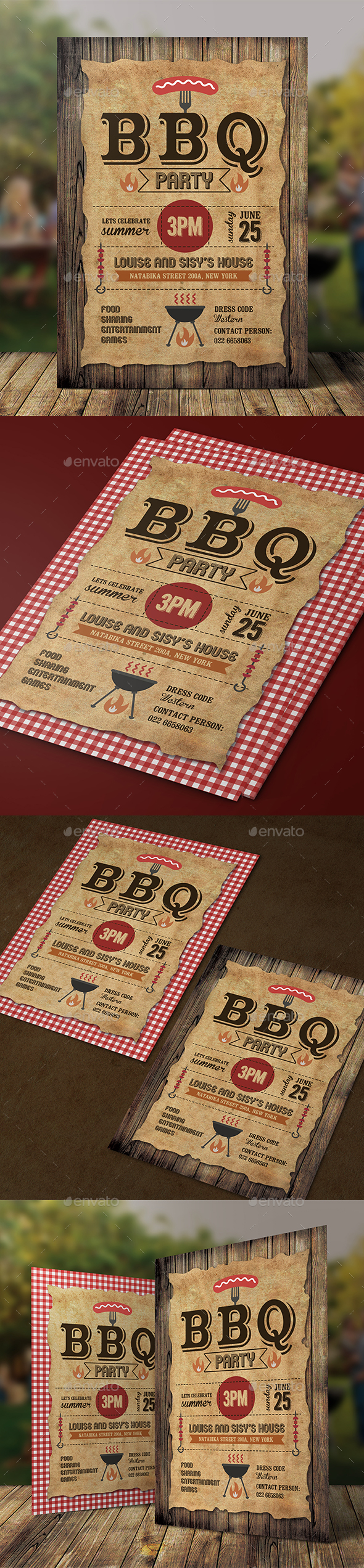 BBQ Invitation - Clubs & Parties Events