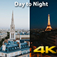 Paris City Day to Night - VideoHive Item for Sale