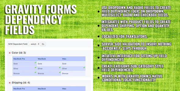 Gravity Forms Dependency Fields by nathanfranklinau | CodeCanyon