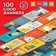 100 Bundle Banners Concept Design - GraphicRiver Item for Sale