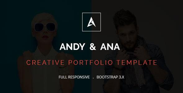 Andy & Ana Creative Portfolio Template