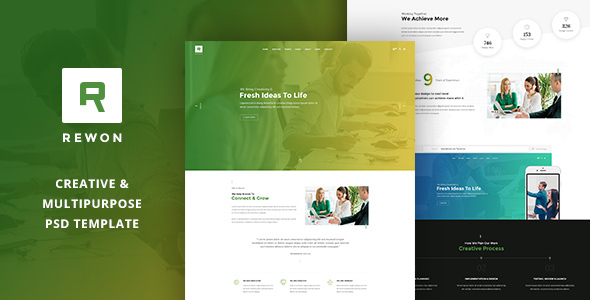REWON – Multipurpose PSD Template