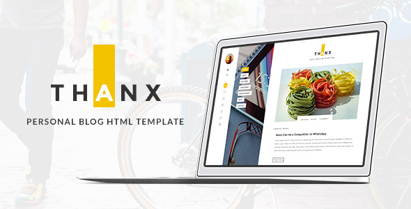 THANX - Personal  HTML Template - Personal Site Templates