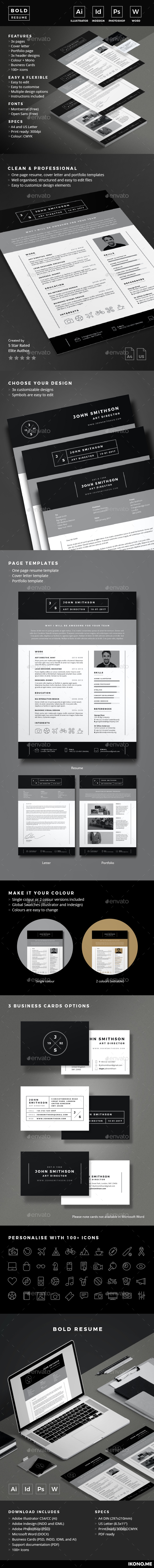 Bold Resume - Resumes Stationery