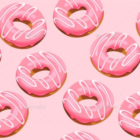 Glazed Donuts Seamless - Birthdays Seasons/Holidays