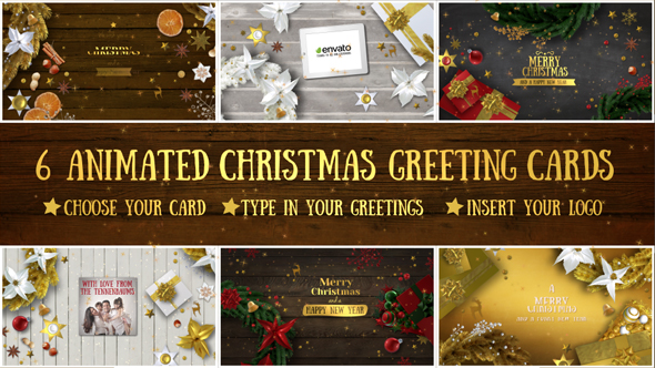 6 christmas greeting cards by gecoooh videohive play preview video m4hsunfo