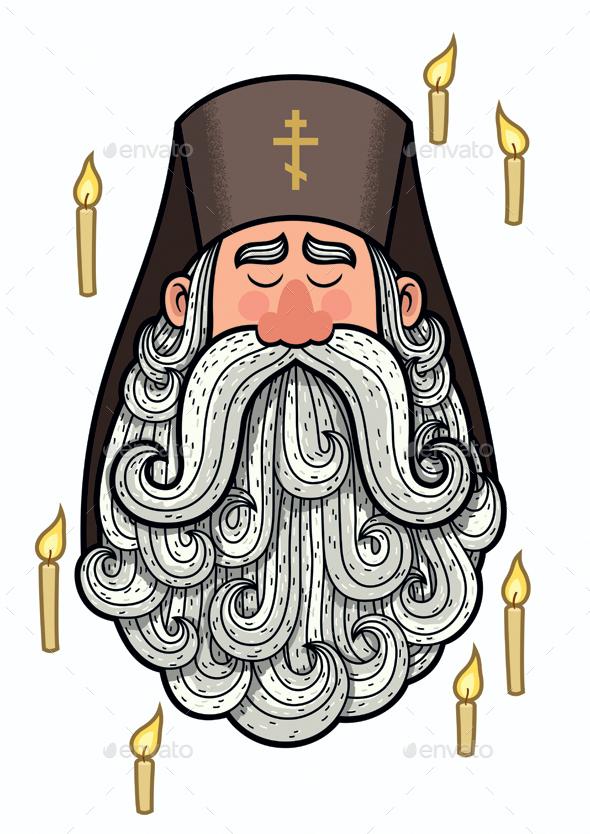Orthodox Priest - Religion Conceptual