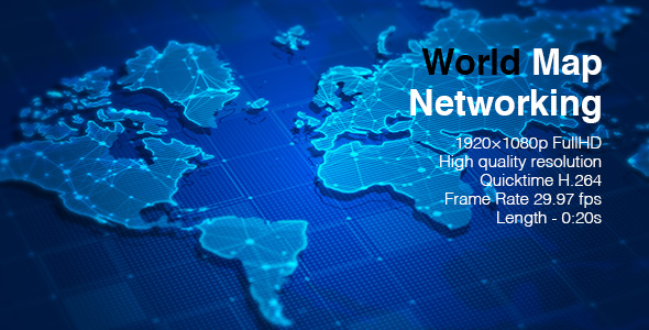 World map networking by bomman videohive play preview video sciox Images