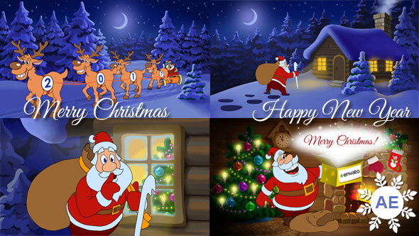 Christmas and new year animated card by cartoontower videohive play preview video m4hsunfo