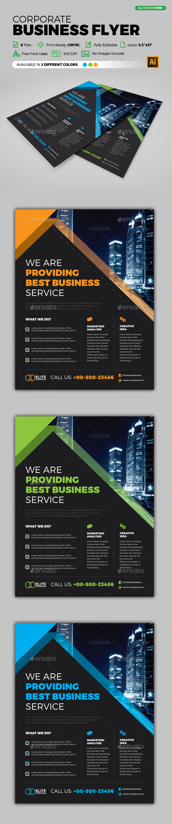 Flyer – Multipurpose 240 - Flyers Print Templates