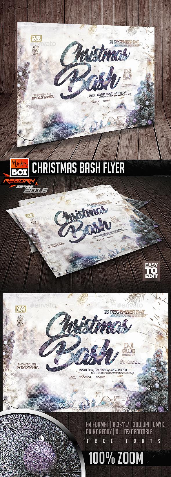 Christmas Bash Flyer - Flyers Print Templates