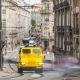 Urban Transport In The Old Street In The Old Part Of The City . The Historic City Center Of Porto - VideoHive Item for Sale