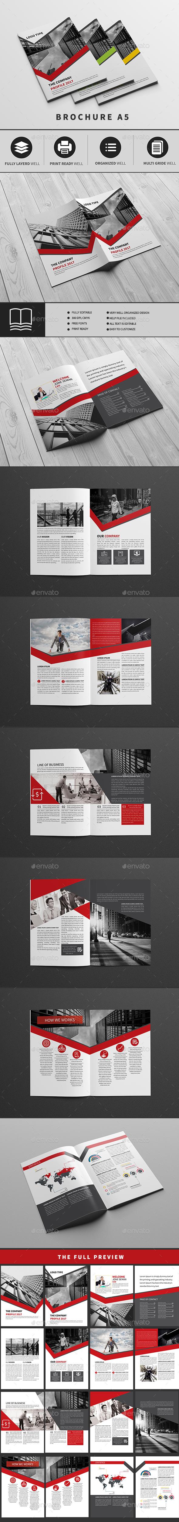 company profile - A5 - Brochures Print Templates