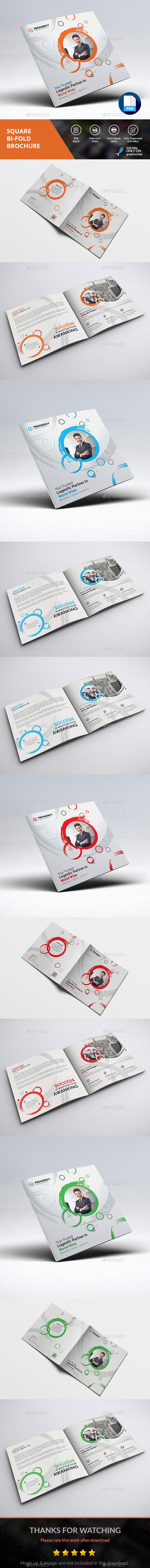 Creative Square Brochure - Brochures Print Templates