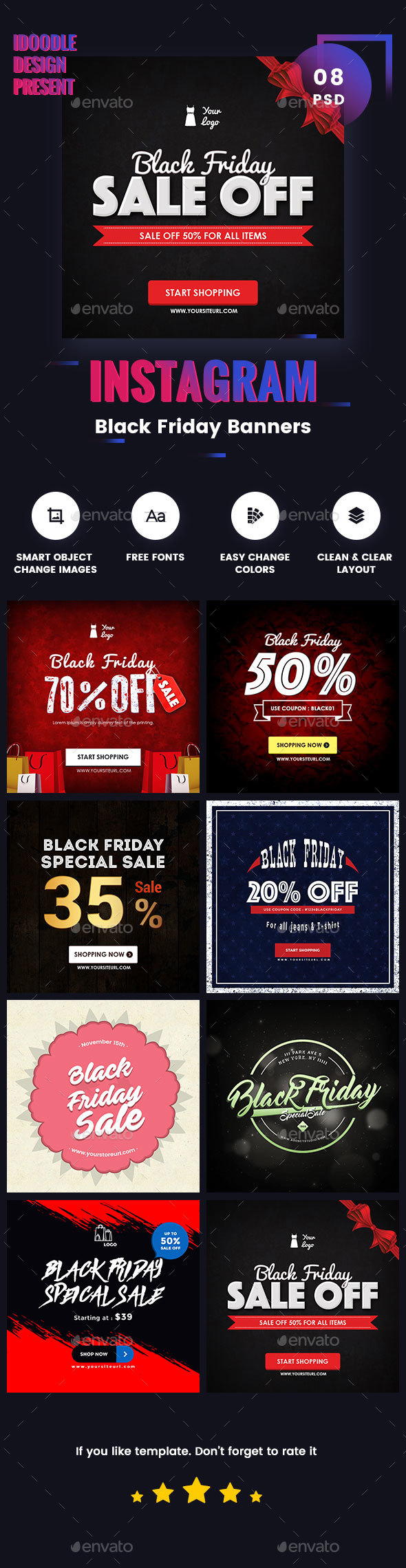 BlackFriday Banners Ads - Banners & Ads Web Elements