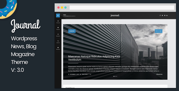Journal - WordPress News and Blog Magazine - News / Editorial Blog / Magazine