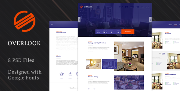 Overlook Premium Hotel Template by dp-theme   ThemeForest