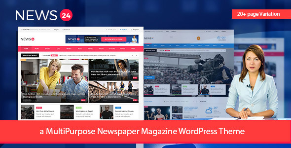 News24 - Newspaper Magazine WordPress Theme - News / Editorial Blog / Magazine