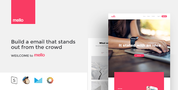 mello – Responsive Email Template Minimal Portfolio
