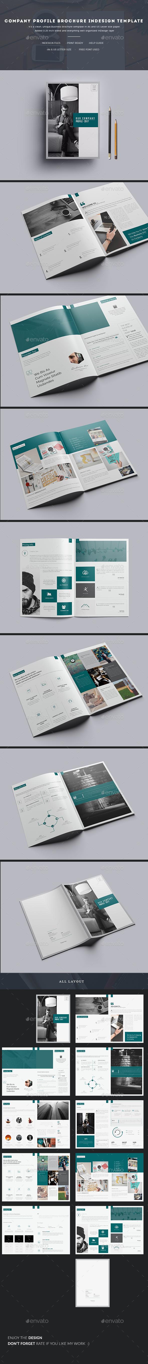 Company Profile Brochure InDesign Template - Corporate Brochures