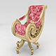 VELVET LUXURY ARMCHAIR 1 - 3DOcean Item for Sale