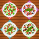 Salads Set 6 Types of Fresh Healthy Salads - GraphicRiver Item for Sale