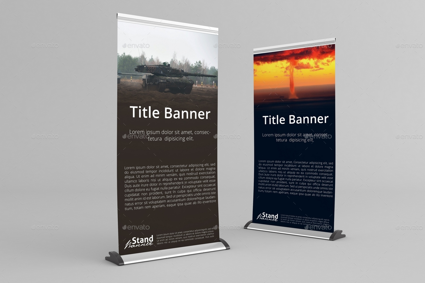 Retractable Roll Up Banner Stand Mock Up By Massdream
